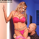 Big and natural titted teenie lesbonia make sensual love together.